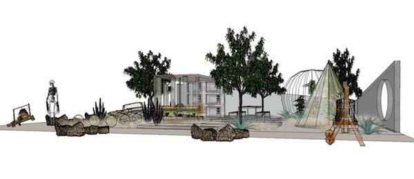 2101 show garden design by Warnes McGarr & Co