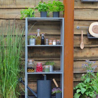 outdoor kitchen edible planting Warnes McGarr