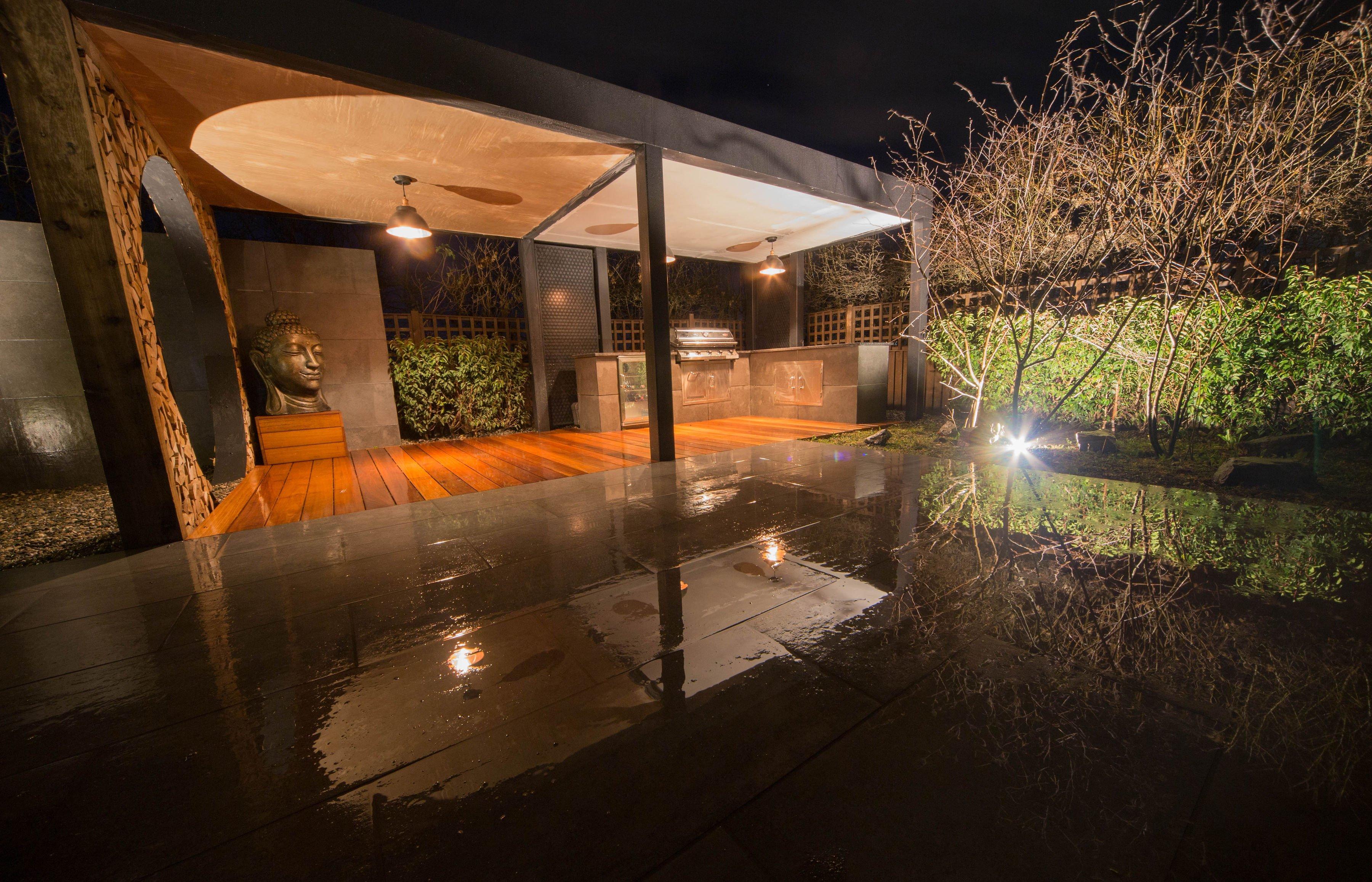 Garden Lighting in Landscape design and Warnes- McGarr & Co.
